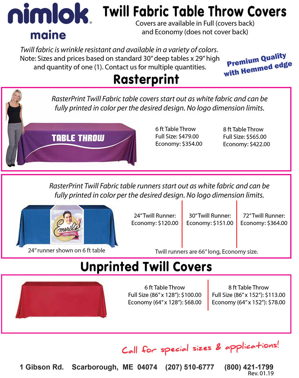 Twill Rasterprint Premium Trade Show Table Covers