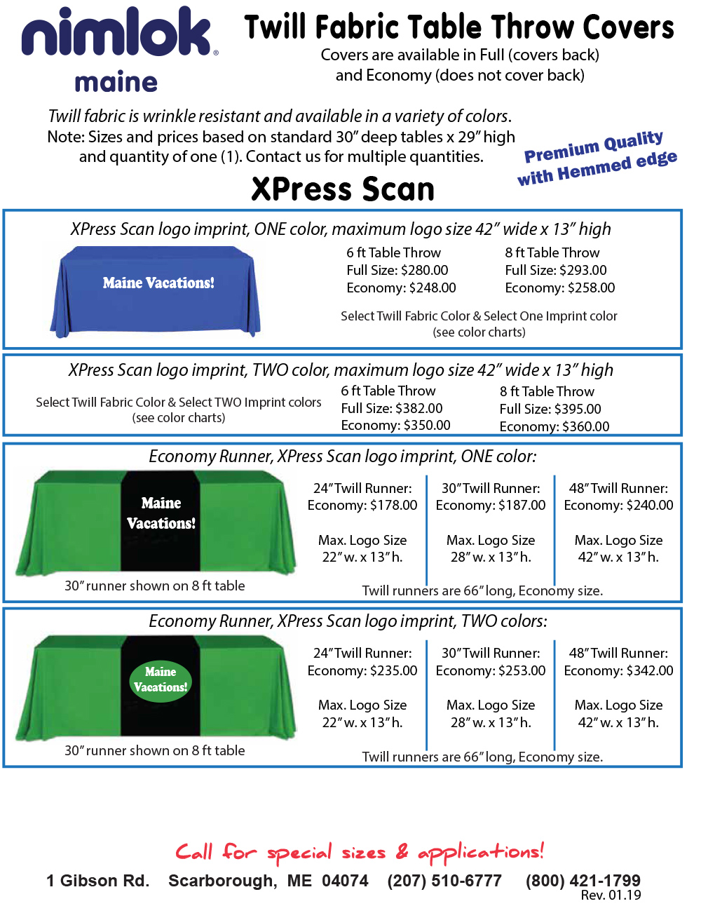 Twill XPress Scan Premium Trade Show Table Covers